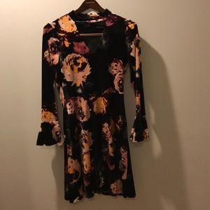 Ivanka Trump Velvet Floral Dress